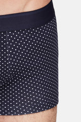 Low Waist Trunk - Blue Dots