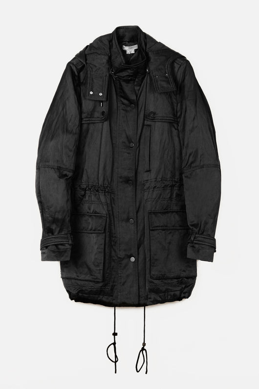 Luxe Long Anorak - Black