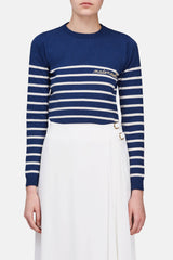 Mademoiselle Sweater - Blue/Ivory