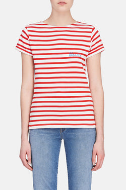 Blondie Striped Tee - Red/White