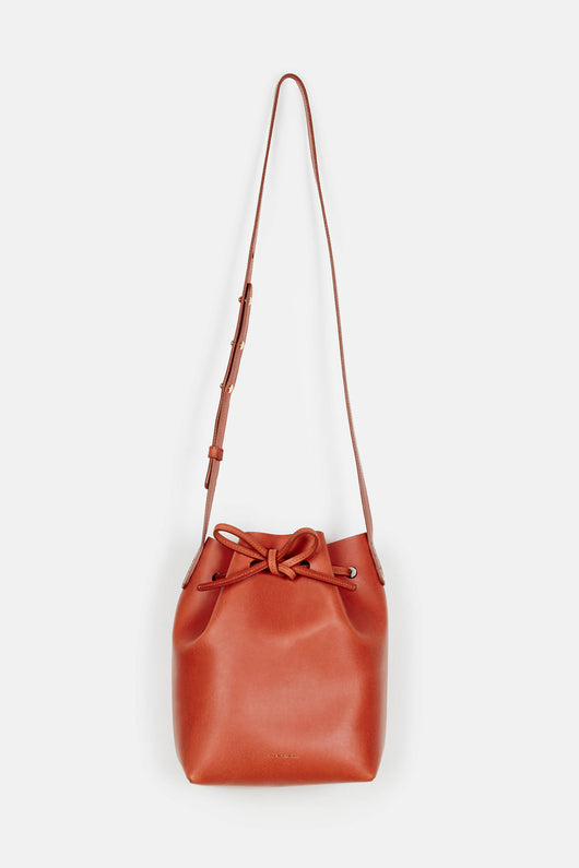 Mini Bucket Bag Coated Interior - Brandy/Brick