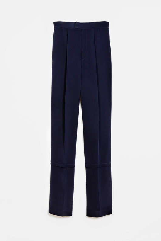 Trouser 04 Wide Leg Trouser - Navy