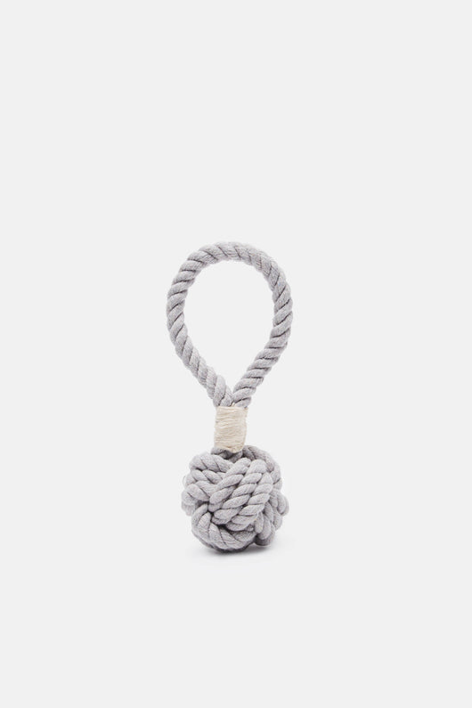 Grey Small Hobie Nautical Knot Rope Tug Toy
