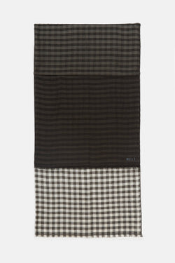 Krishna Shaded 2 Color Checks Scarf