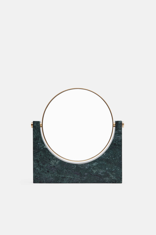 Tabletop Mirror w/Magnifying Option - Green Marble