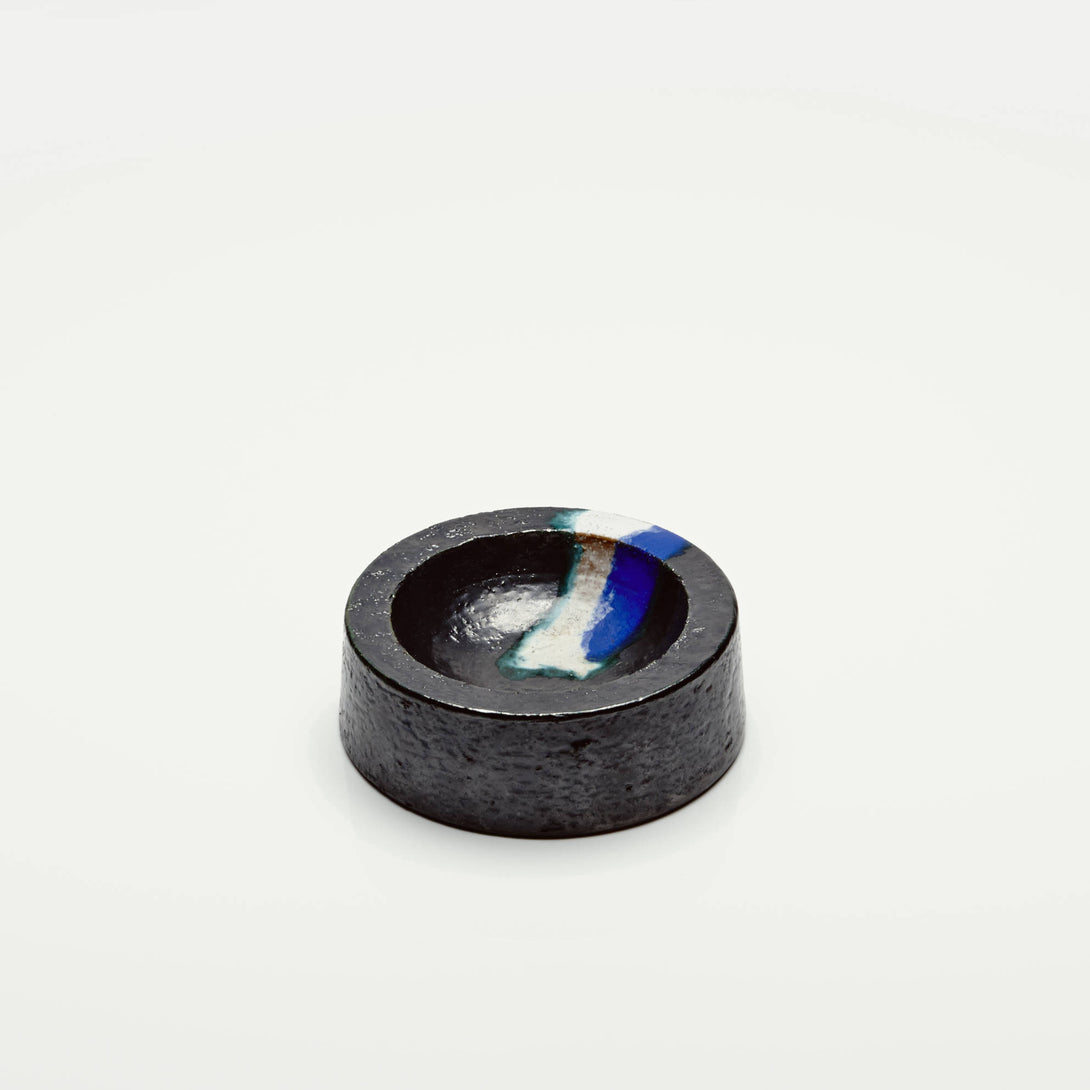 Blue/Black Concave Bowl by Raymor