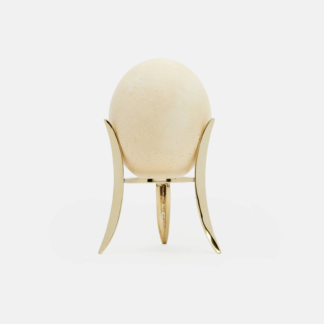 Ostrich Egg on Bronze Stand