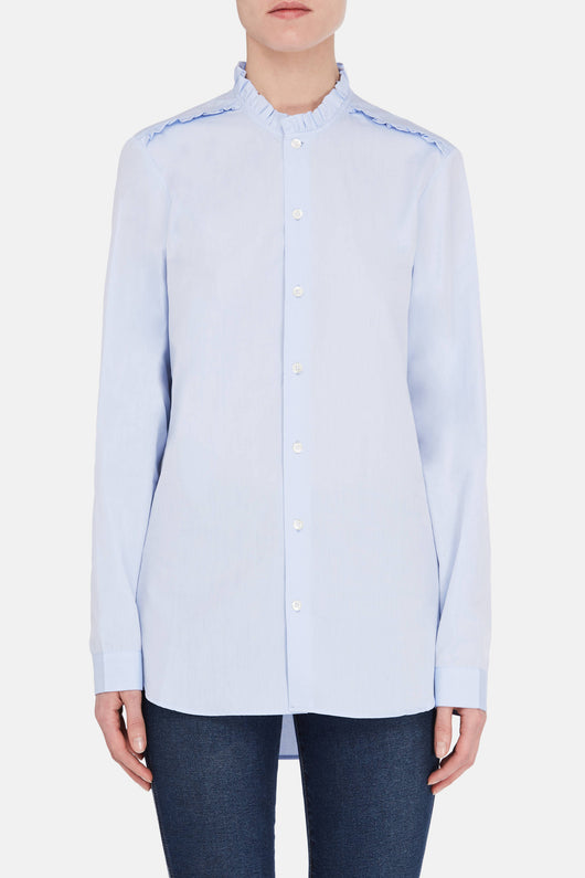 Diana Collar Shirt - Blue Sky