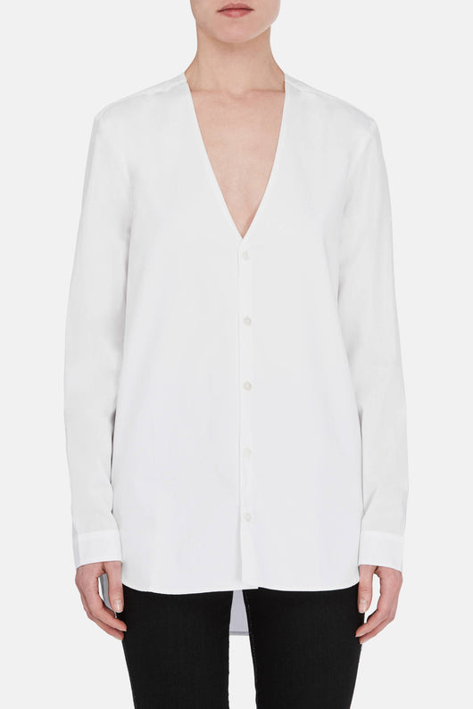 Vicky V Neck Shirt - White