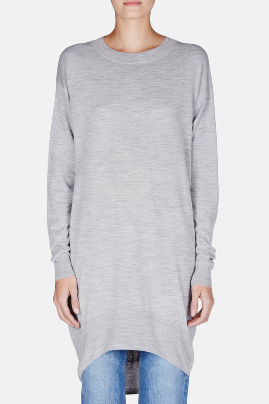 Sweater Dress - Grey Melange
