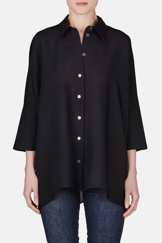 Light Fluid Top - Black