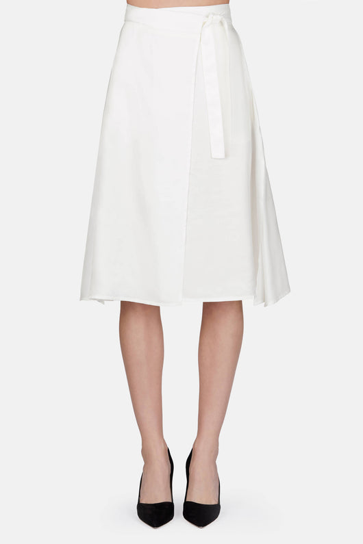 Fluid Wrap Skirt - Off White
