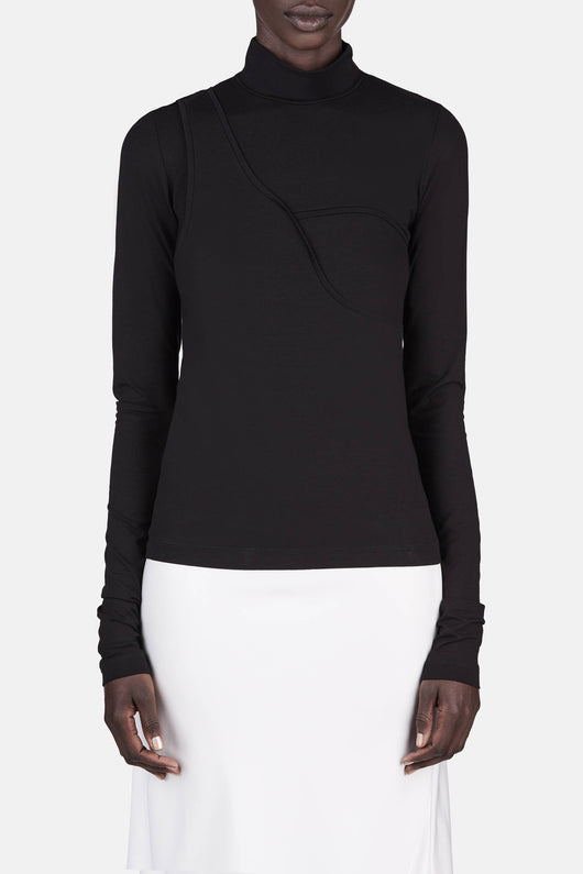 Twisted Turtleneck - Black