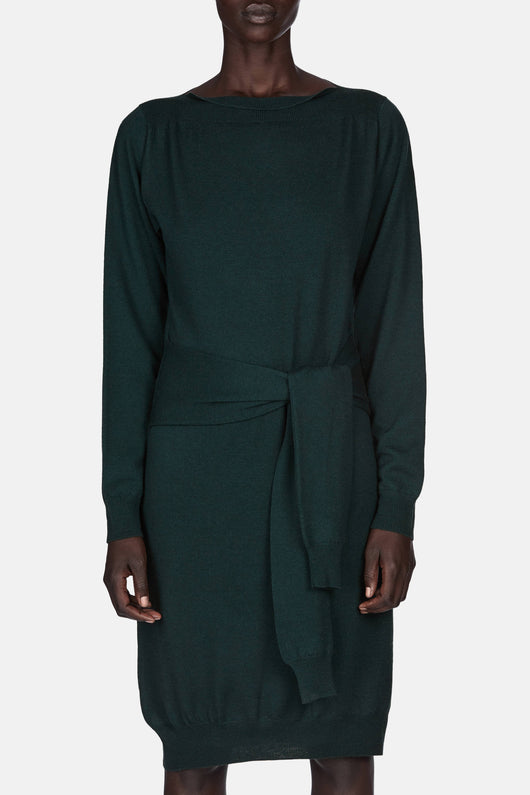 Wrap Sweater Dress - Pine