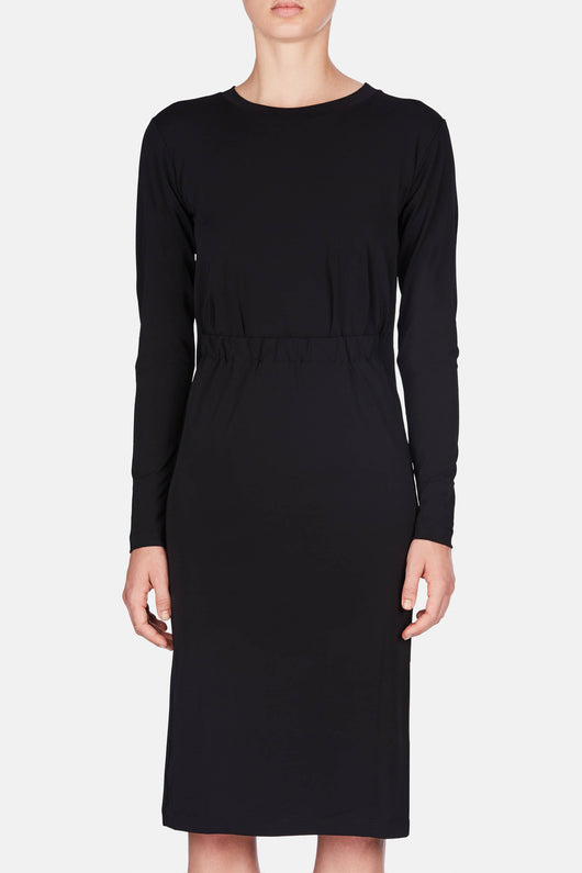 Open Front Dress - Black
