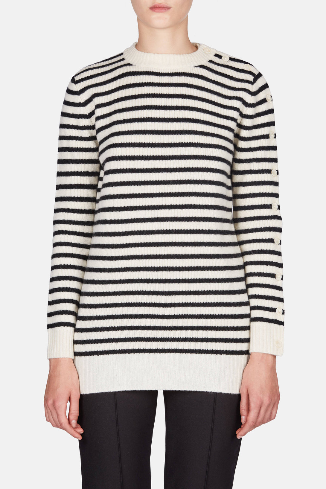 Striped Sailor Sweater - Calico/Black