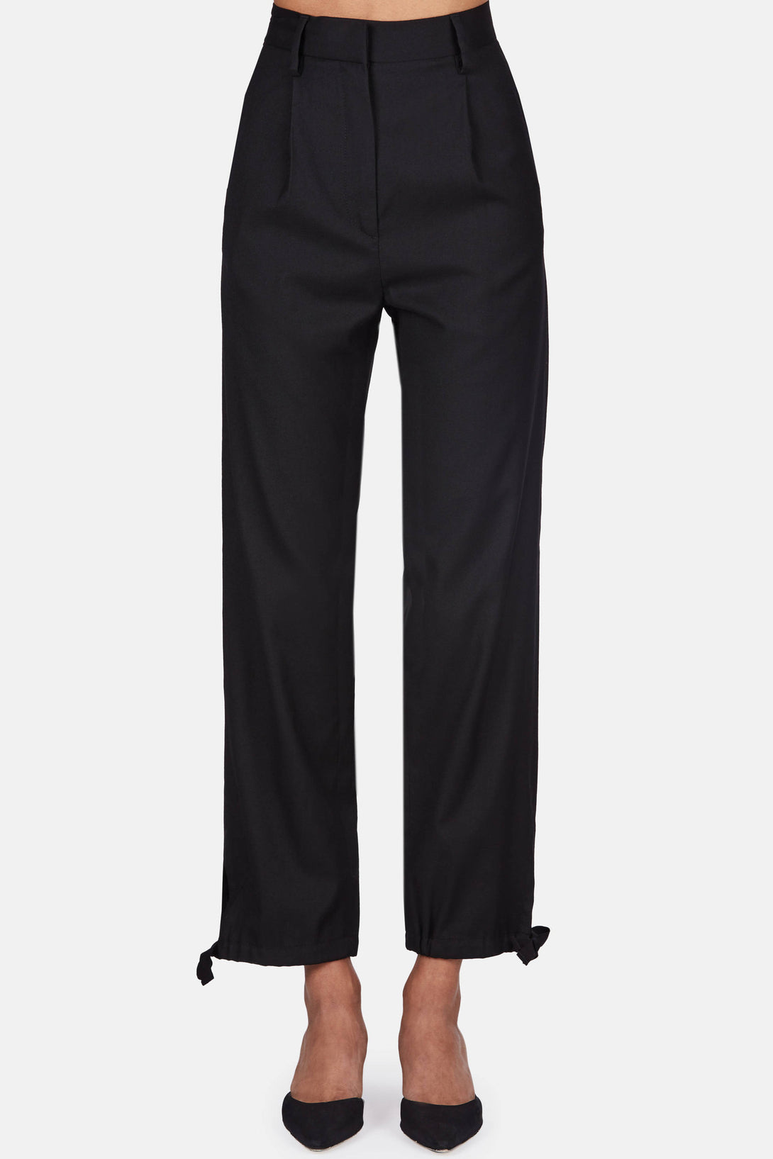 Bottom Tie Trouser - Black