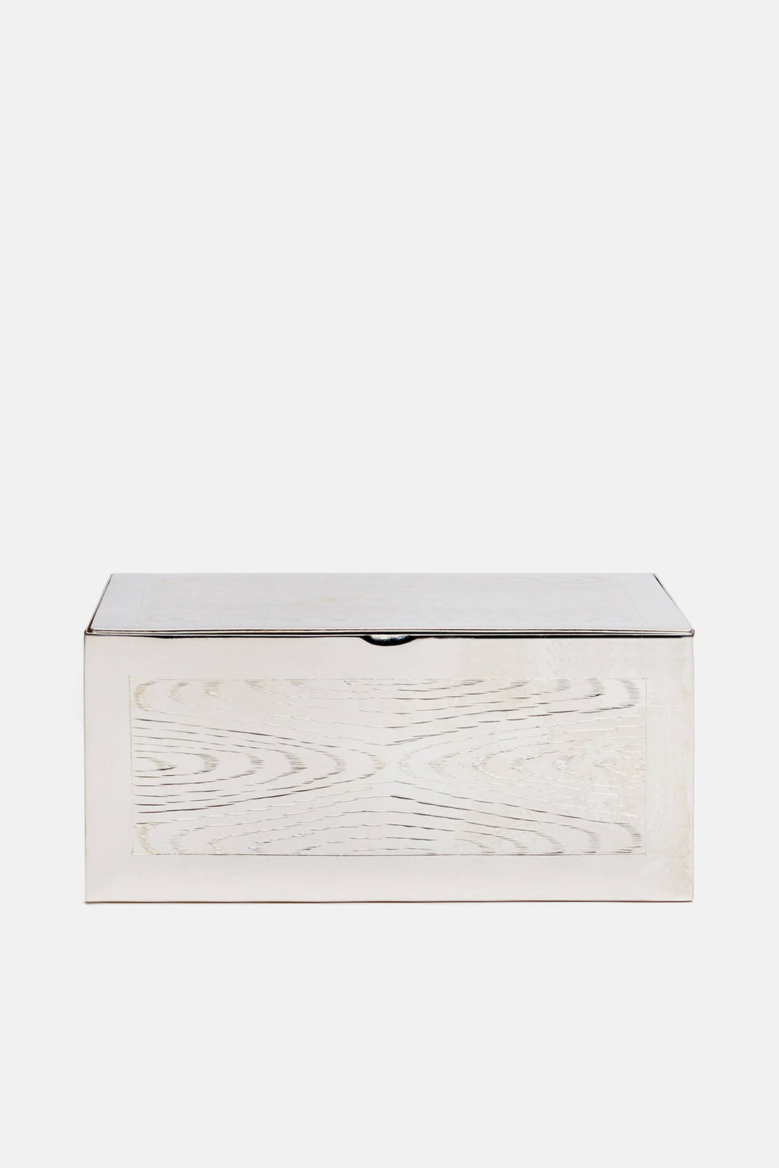 Hermes Wood-Grained Silver Box