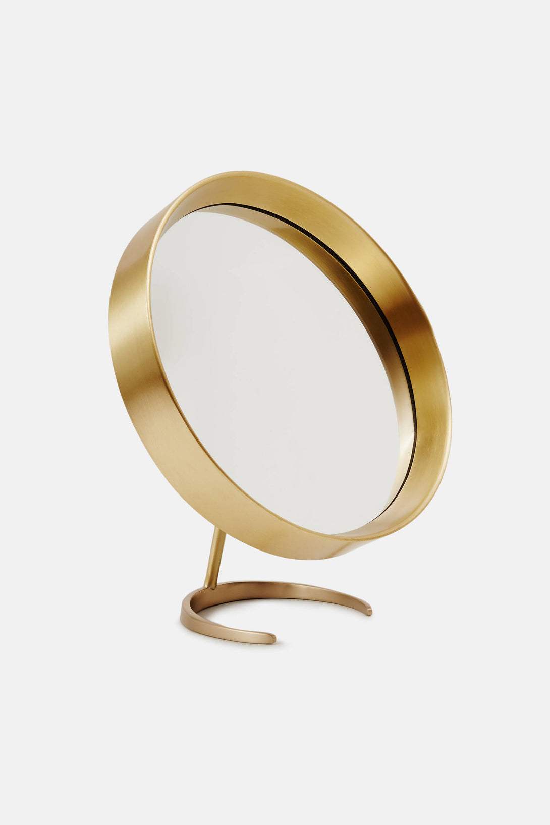 brass tabletop mirror with stand the line. Black Bedroom Furniture Sets. Home Design Ideas