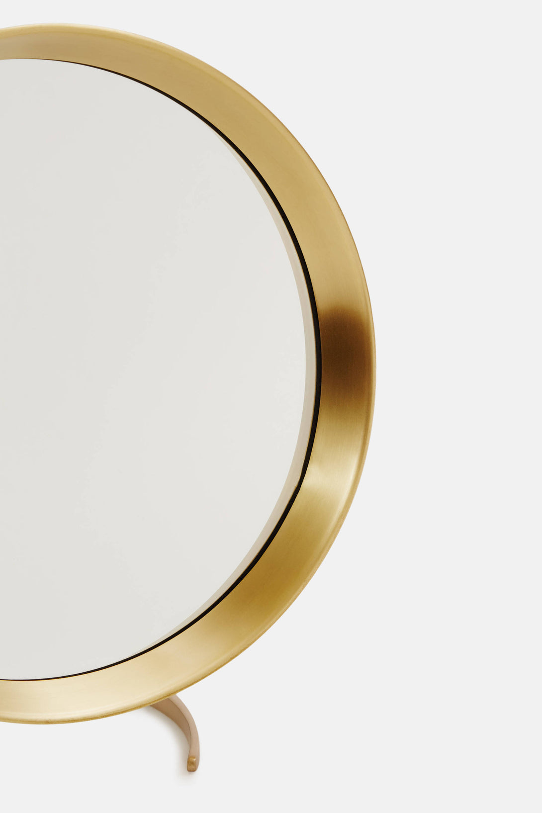 ... Brass Tabletop Mirror with Stand ...