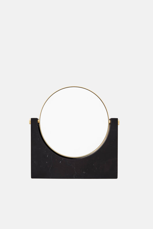 Tabletop Mirror w/Magnifying Option - Black Marble
