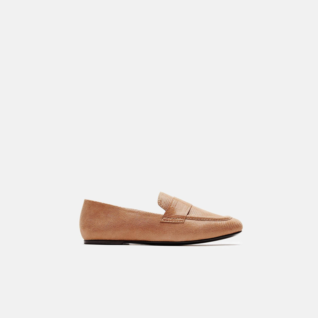 Claude Loafer - Embossed Tan Lizard