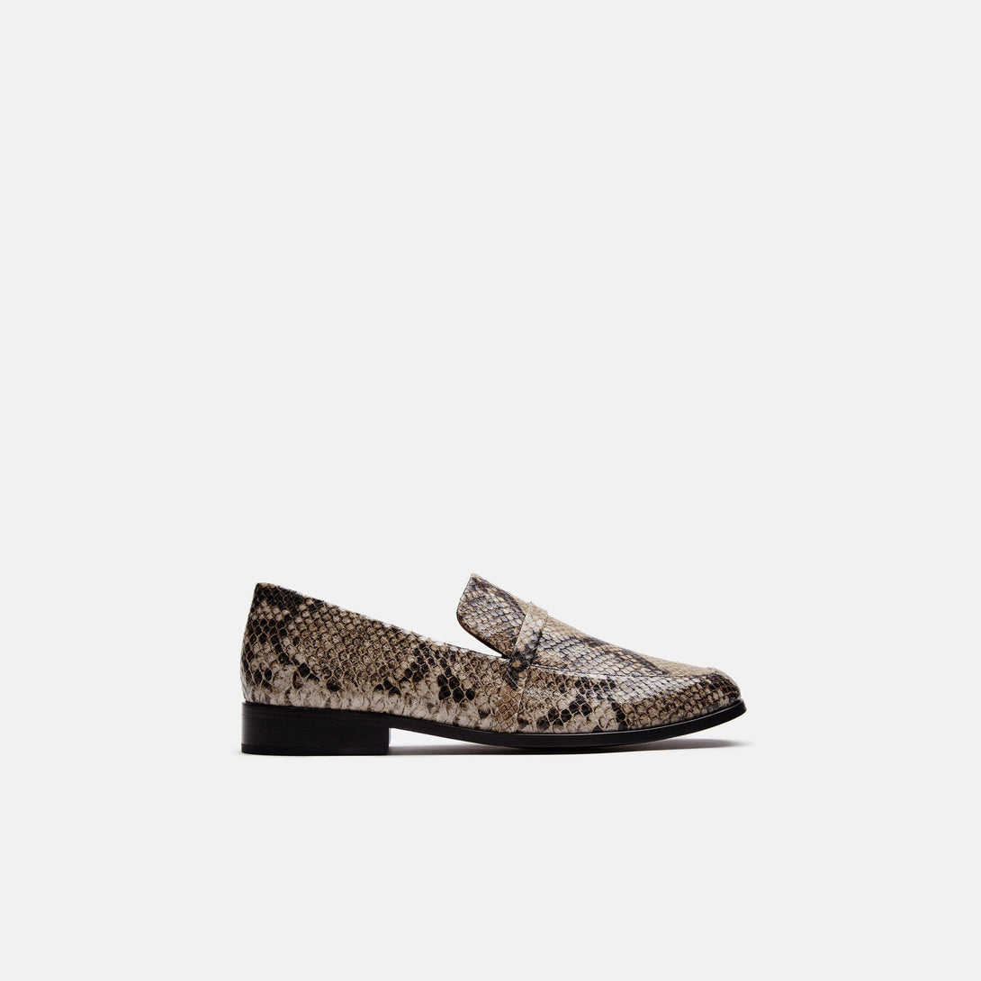 Melanie Loafer with Band - Embossed Snake Calf