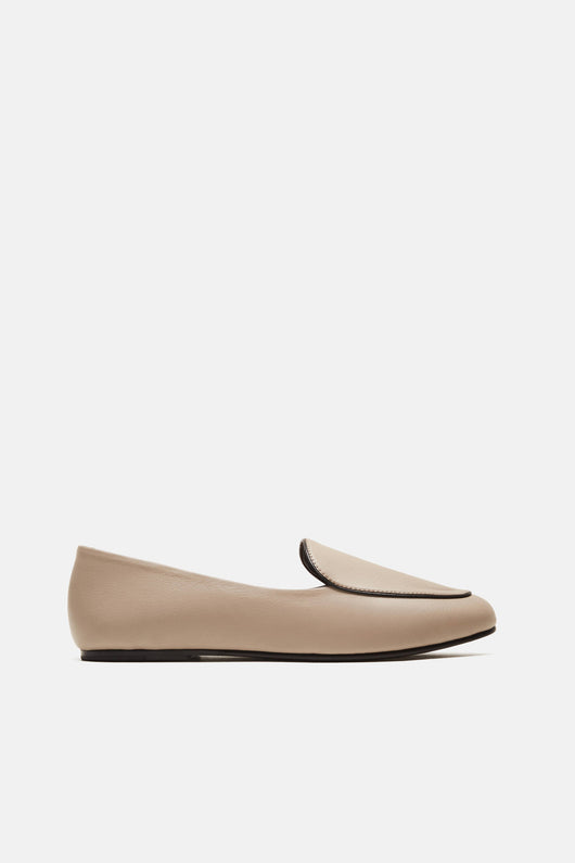 Liza Loafer - Taupe Smooth Calf