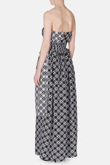 Strapless Maxi Dress - Black/White