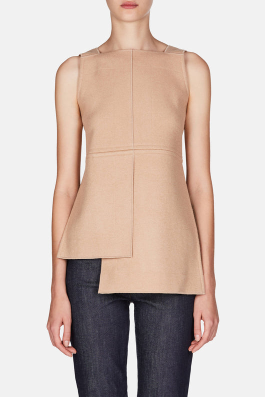 Heavy Jersey Panel Top - Sand