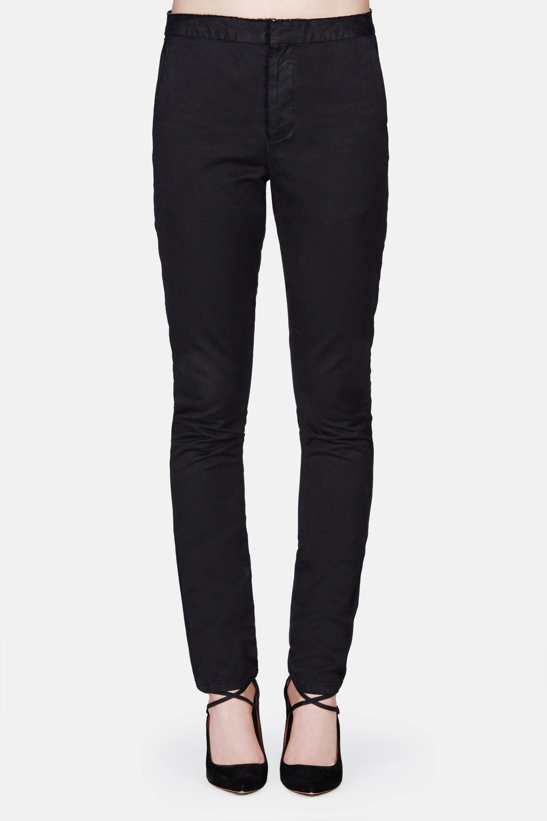 S.D. Raw-Edge Dress Pant - Black