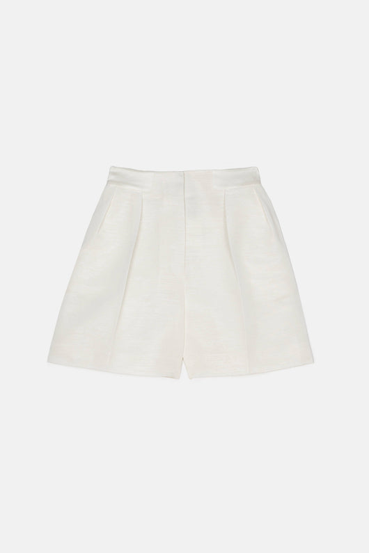 Midnight Pleated Short - Blanc