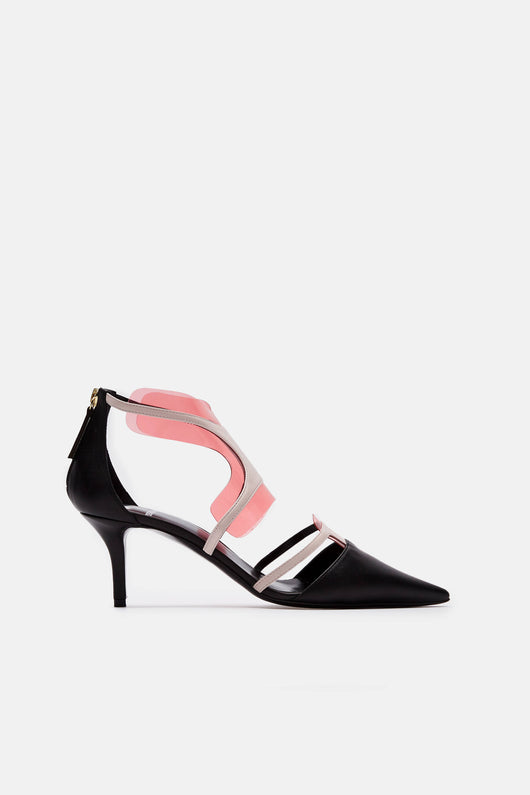 Shades Pump - Black/Blush
