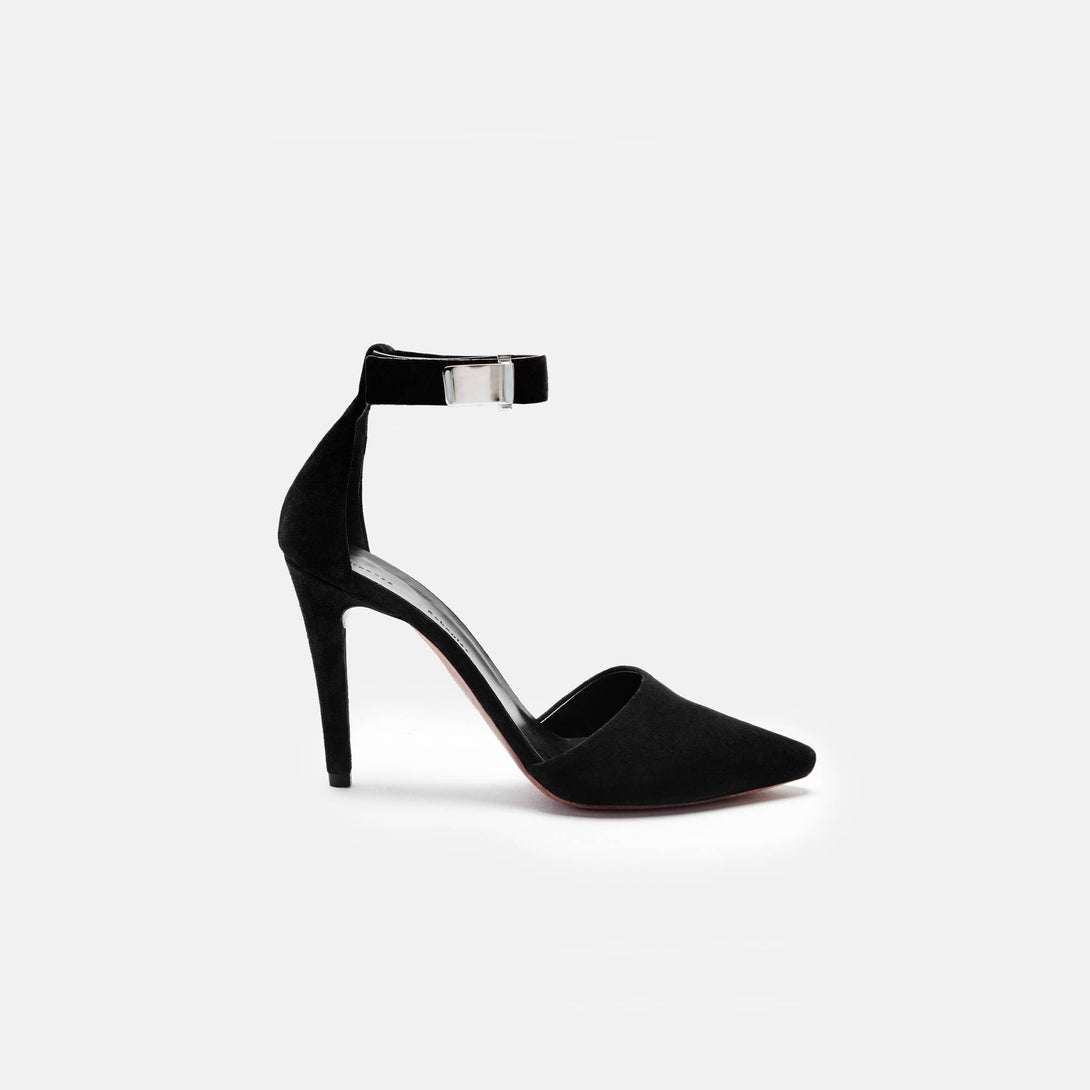 Ankle Strap Pump 100 mm - Black