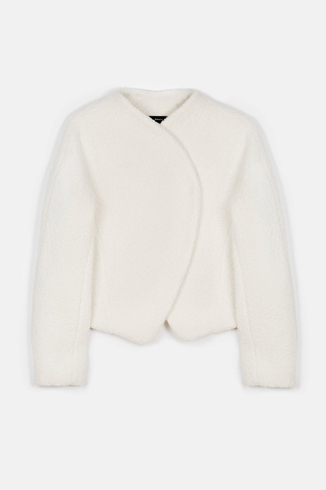 Bonded Boucle Round Jacket - Off-White