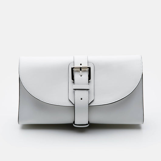 Buckle Bag Clutch - White