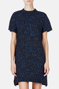 Printed Viscose Crepe S/S Shift Dress