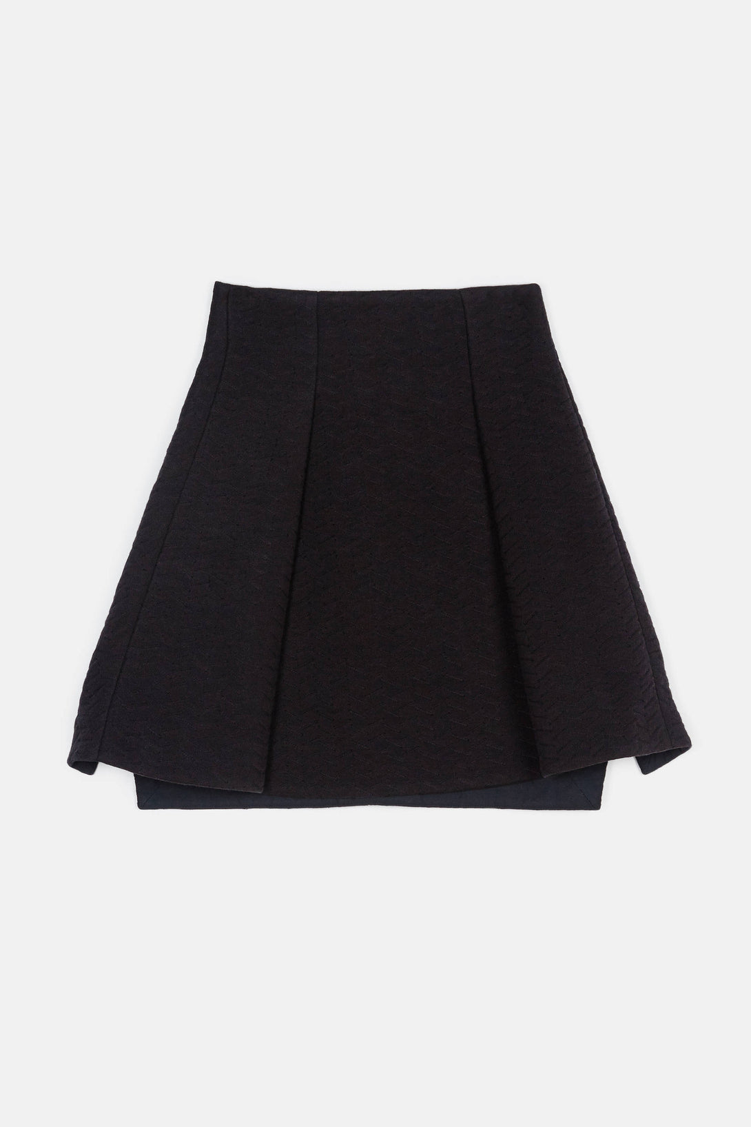 Quilted Sweatshirt Jersey Pleats Skirt