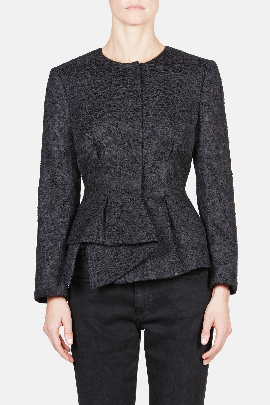 Peplum Jacket - Black