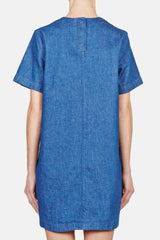 T-Shirt Dress - Denim Blue