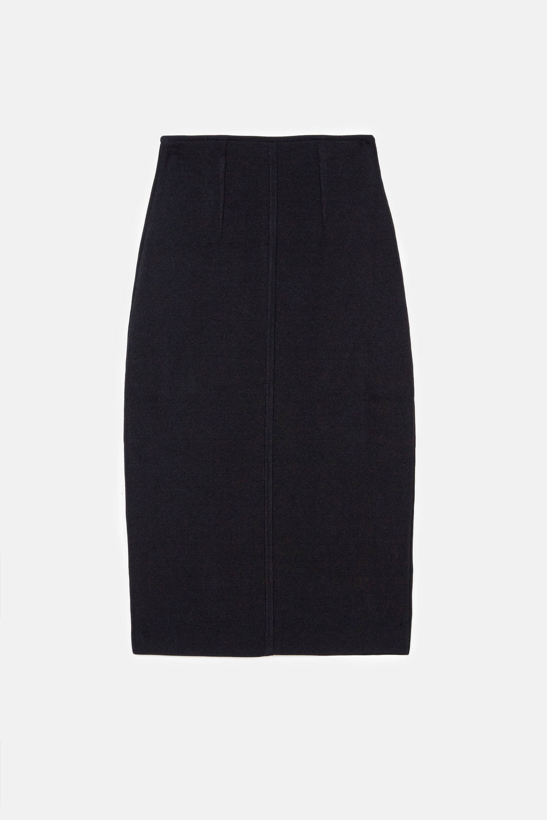 Knit Pencil Skirt - Black