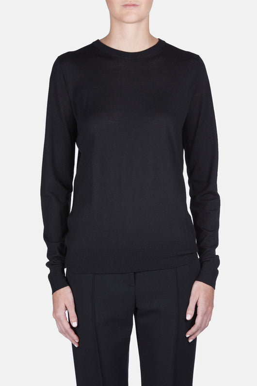 Superfine Merino PS L/S Crewneck - Black