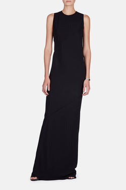 Sleeveless Long Dress - Black
