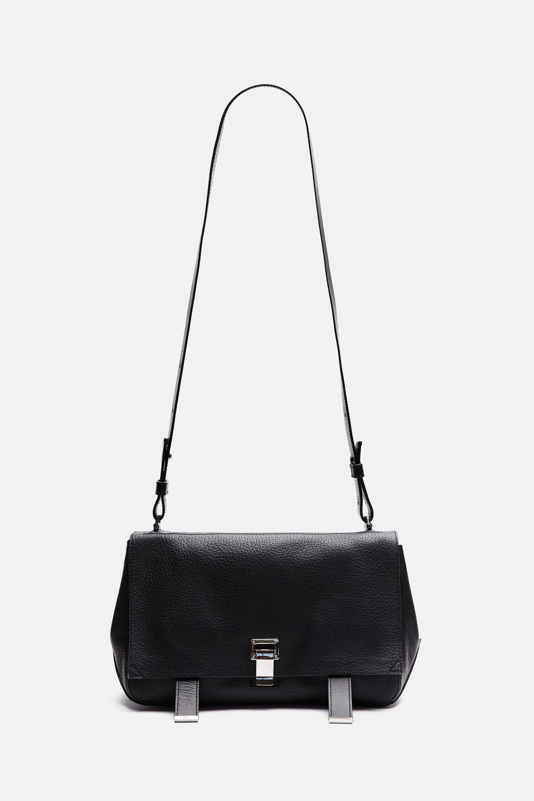 Pebbled Leather PS Courier - Black