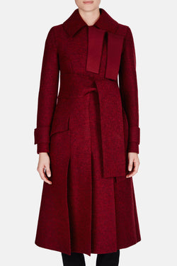 DB Coat - Burgundy Melange