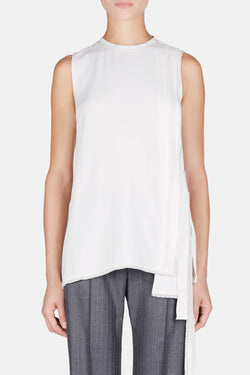 Sleeveless Side Tie Blouse - Off White