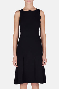 Sleeveless Knit Dress - Black