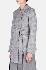 Mid Length DB Jacket - Grey Melange