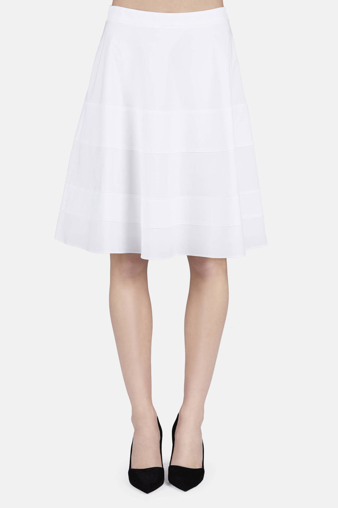 Flared Skirt - Optic White