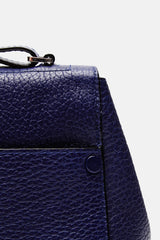 Pebbled Leather PS Courier - Navy